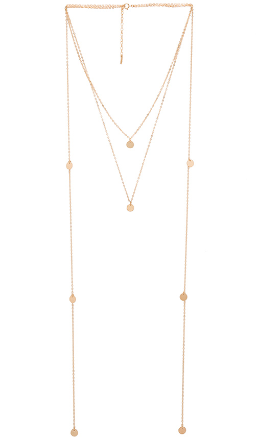 Amarilo Laurel Necklace in Metallic Gold.