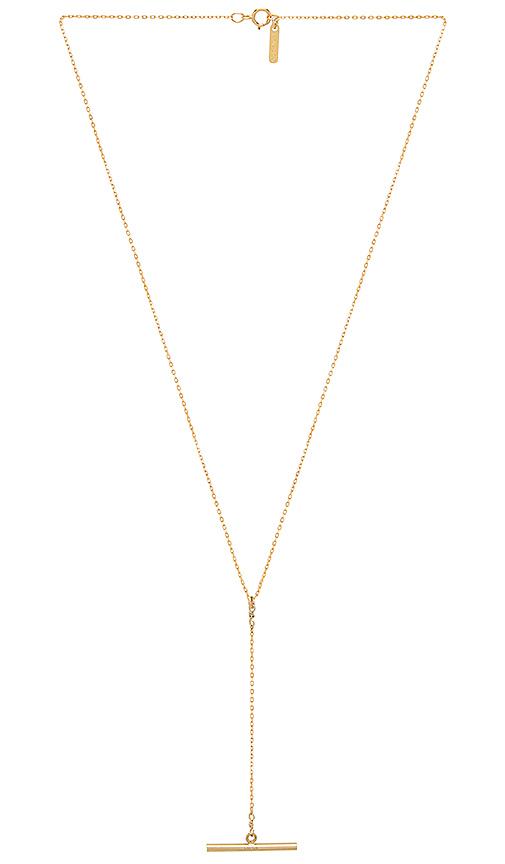 Amarilo Toggle Lariat Necklace in Metallic Gold