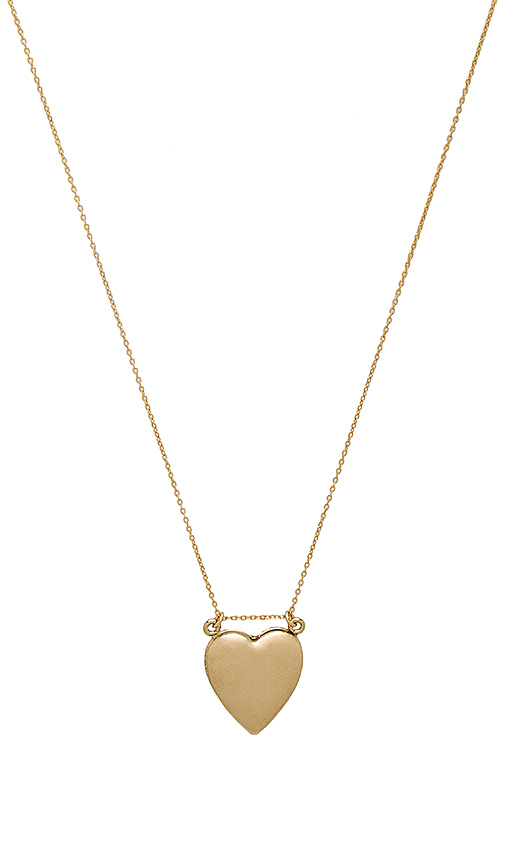 Amarilo Double Heart Locket Necklace in Metallic Gold