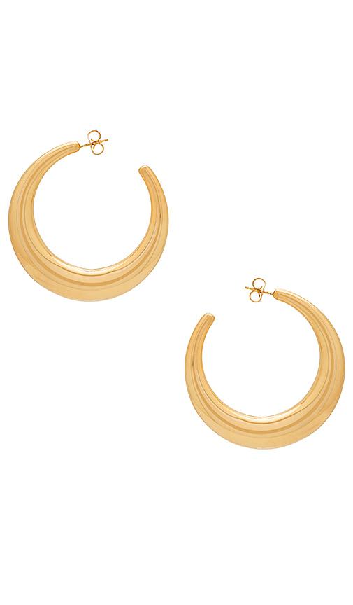 Amber Sceats Gabe Earrings in Metallic Gold