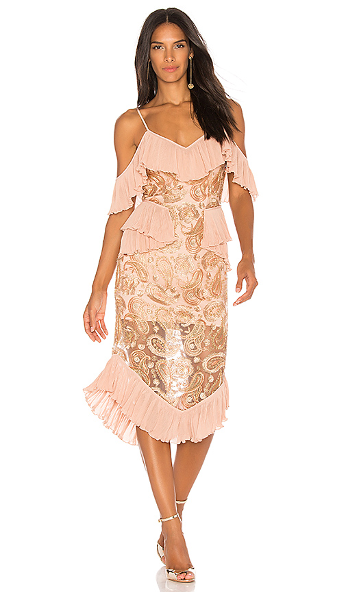 Alice McCall We Could Be Friends Dress in Metallic Gold