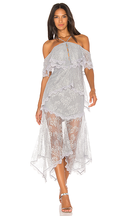 Alice McCall One Way or Another Dress in Metallic Silver