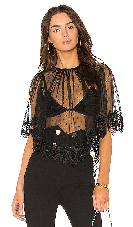 Alice McCall Love Game Top in Black
