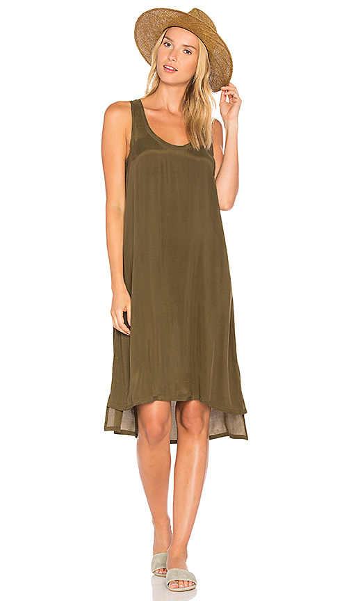 American Vintage Azawood Tank Dress in Army. - size M (also in S)