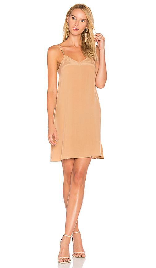 American Vintage Azawood Slip Dress in Tan. - size L (also in M,S)