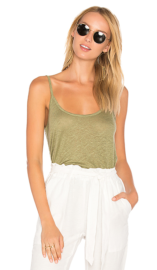 American Vintage Quincy Cami in Green. - size L (also in M)