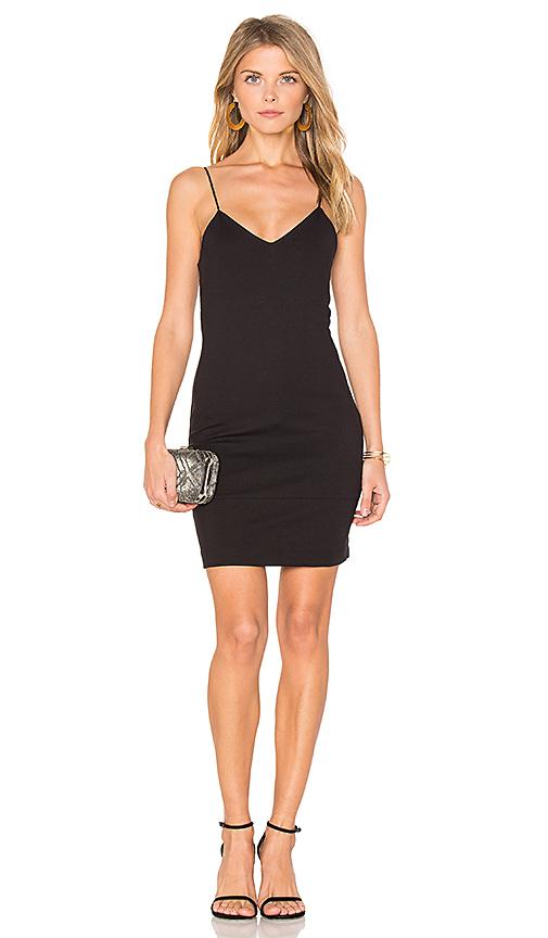 amour vert Chastity Mini Dress in Black