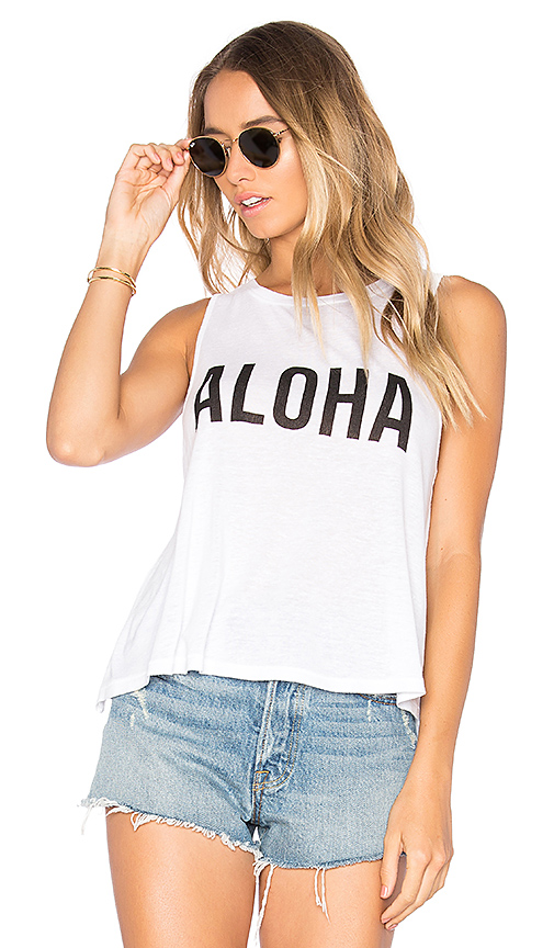AMUSE SOCIETY x Samudra Hello Hawaii Tank in White. - size M (also in XS)