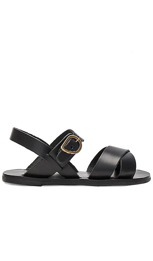 Ancient Greek Sandals Little Socrates Sandal in Black