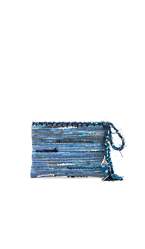 Ancient Greek Sandals Clotho Clutch in Blue