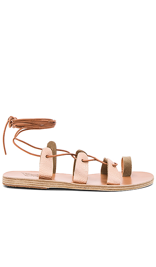 Ancient Greek Sandals Alcyone Sandal in Metallic Copper