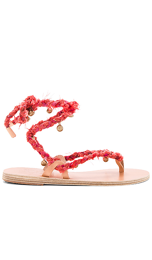 Ancient Greek Sandals Atropos Sandal in Red