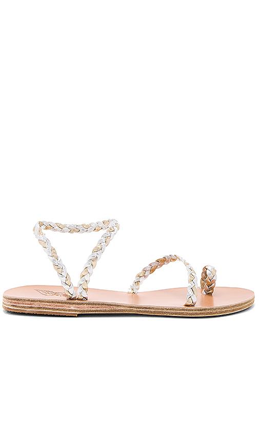 Ancient Greek Sandals Eleftheria Sandal in Metallic Silver