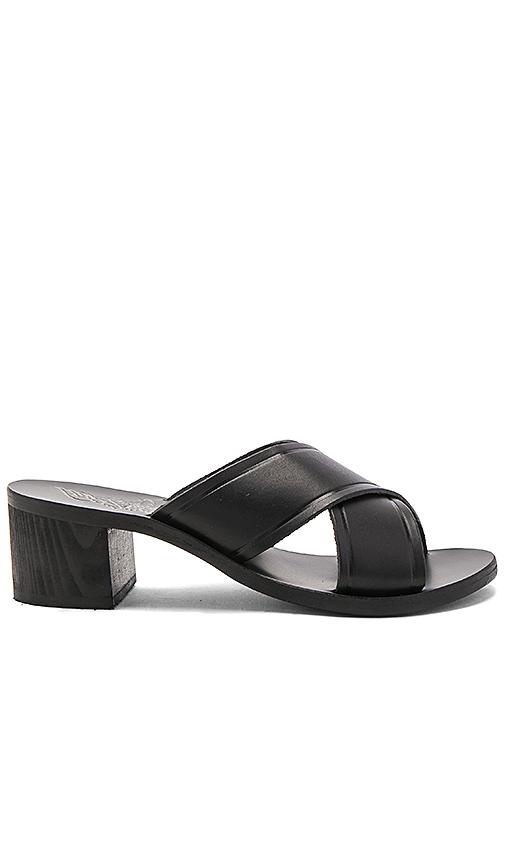 Ancient Greek Sandals Thais Block Heel in Black