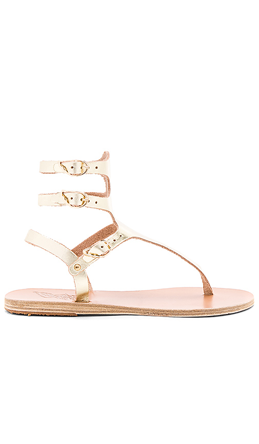 Ancient Greek Sandals Themis Sandal in Metallic Gold