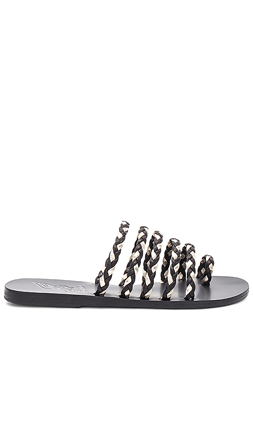 Ancient Greek Sandals Niki Braids Slide in Black