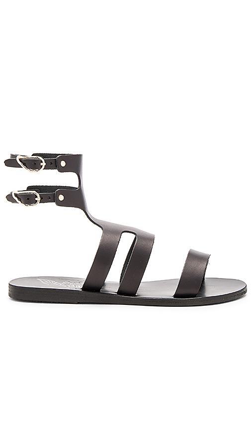Ancient Greek Sandals Agapi Sandal in Black