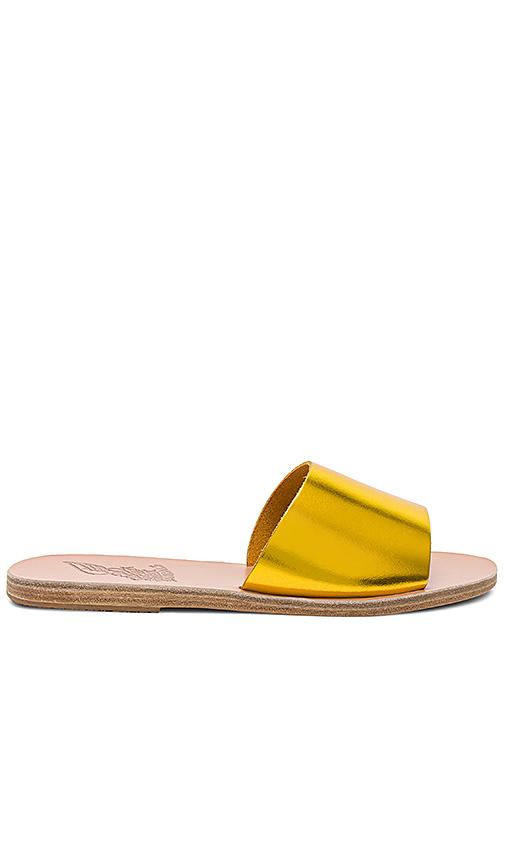 Ancient Greek Sandals Taygete Slide in Metallic Gold