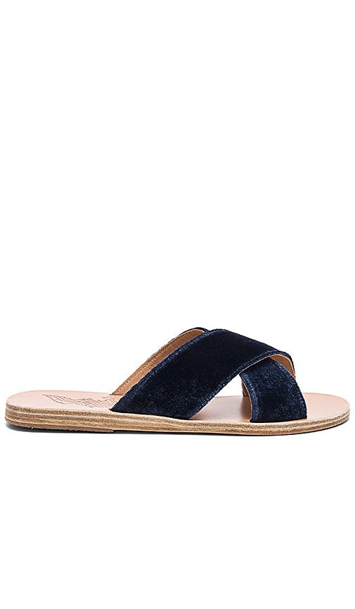 Ancient Greek Sandals Thais Slide in Navy