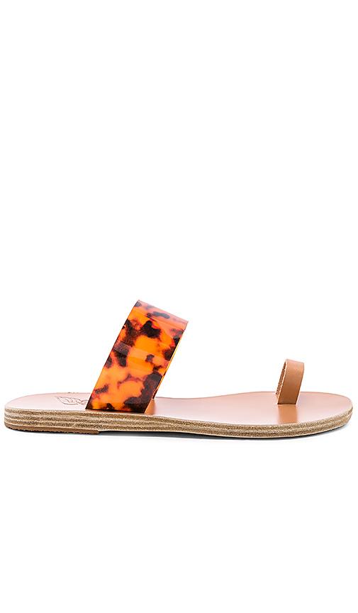 Ancient Greek Sandals Thraki Vinyl Sandal in Brown
