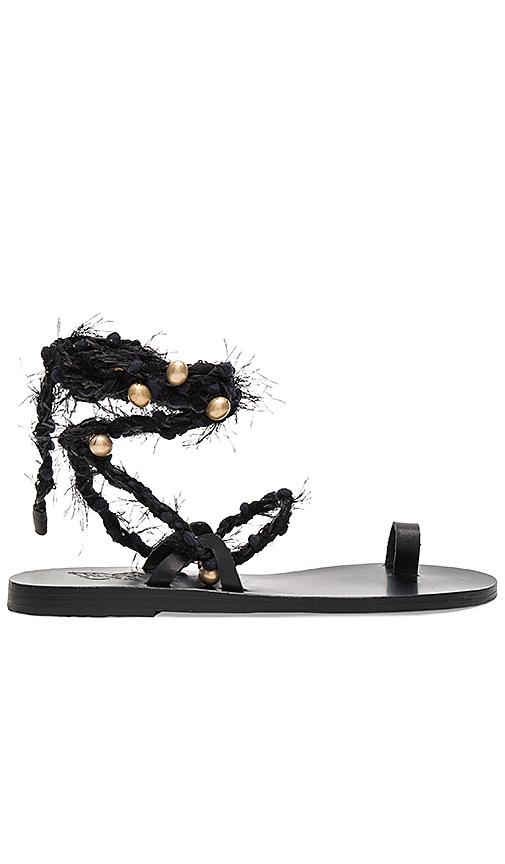 Ancient Greek Sandals Clotho Sandal in Black