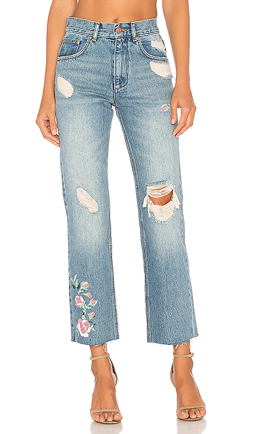 ANINE BING Embroidered Jean. - size 27 (also in 25)