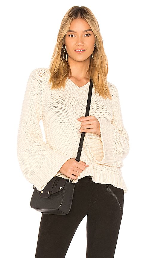 ANINE BING Bell Sleeve Knit Sweater in Cream. - size XS (also in L,M,S)