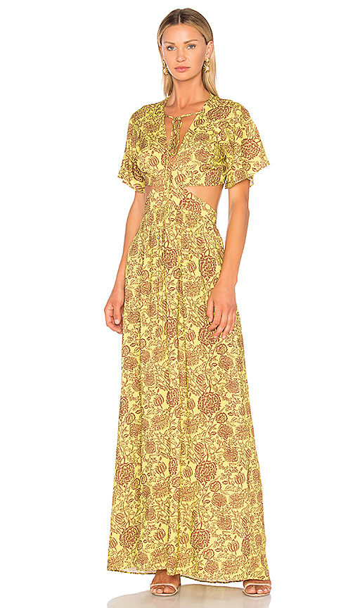 ANIMALE Cut Out Maxi Dress in Yellow. - size 36/XS (also in 38/S,40/M,42/L)