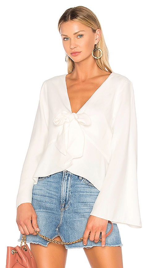 ANIMALE Bell Sleeve Blouse in White. - size 36/XS (also in 38/S)