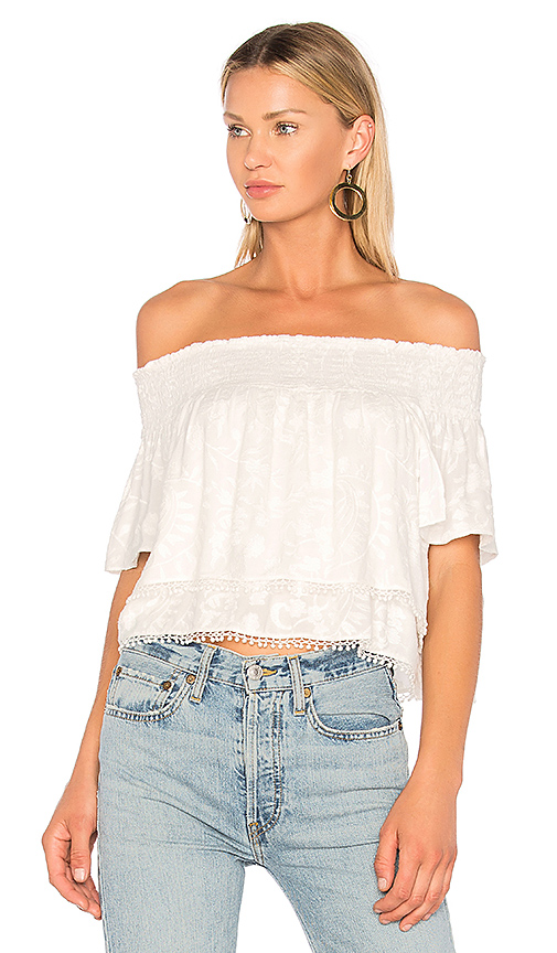 ANIMALE Off the Shoulder Top in White. - size 36/XS (also in 38/S,40/M,42/L)