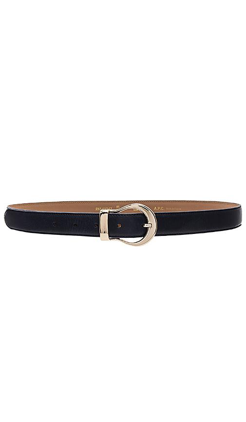 A.P.C. Jade Belt in Navy. - size 75 (also in 80,90)
