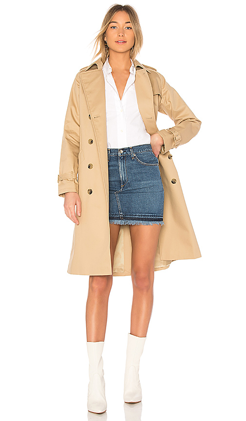 A.P.C. Greta Trench in Tan. - size 34/2 (also in 36/4,38/6,40/8)