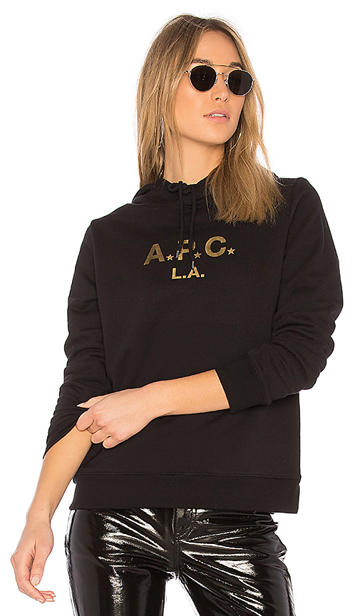 A.P.C. APC LA Hoodie in Black. - size XS (also in L,S)