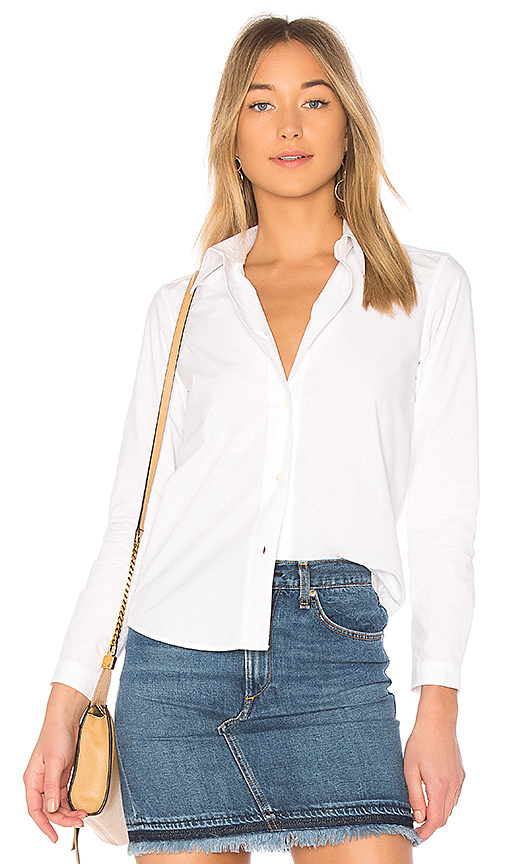 A.P.C. Mademoiselle Shirt in White. - size 34/2 (also in 38/6,40/8)