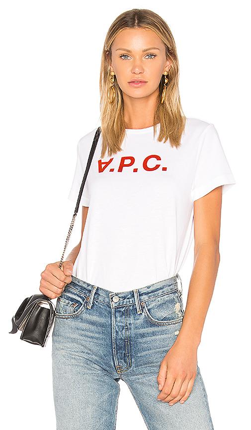 A.P.C. VPC Tee in White. - size L (also in S,XS)