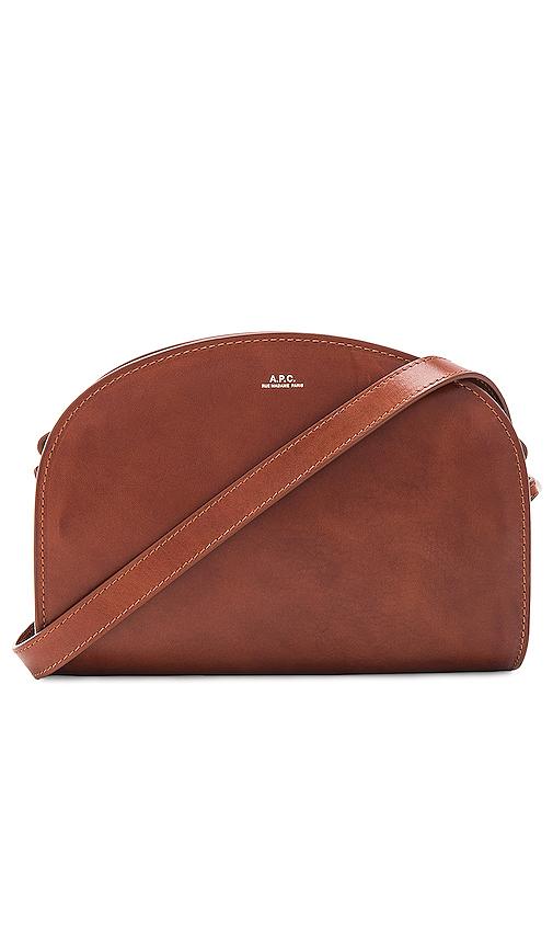APC Demi Lune Bag in Cognac