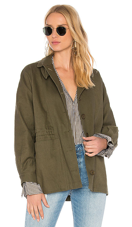 APIECE APART Garrapata Drawstring Jacket in Army. - size L (also in M,S,XS)
