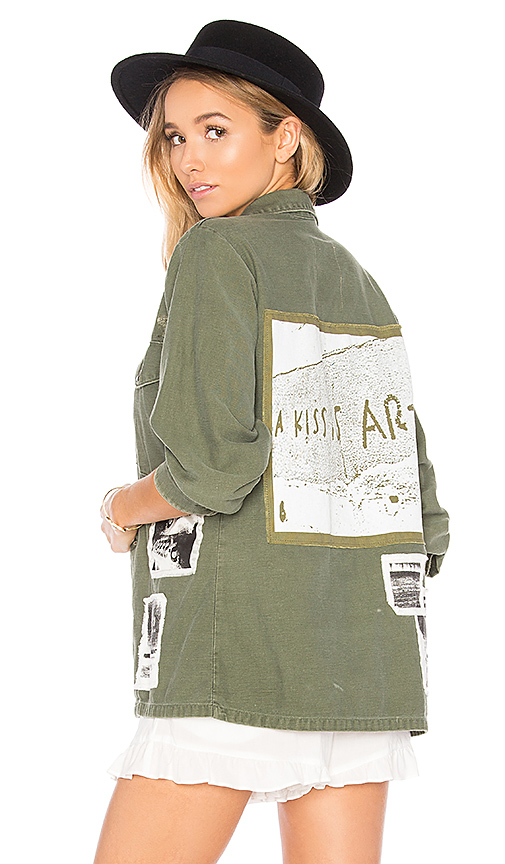 AS65 Military Vintage Shirt in Green. - size L (also in XS)
