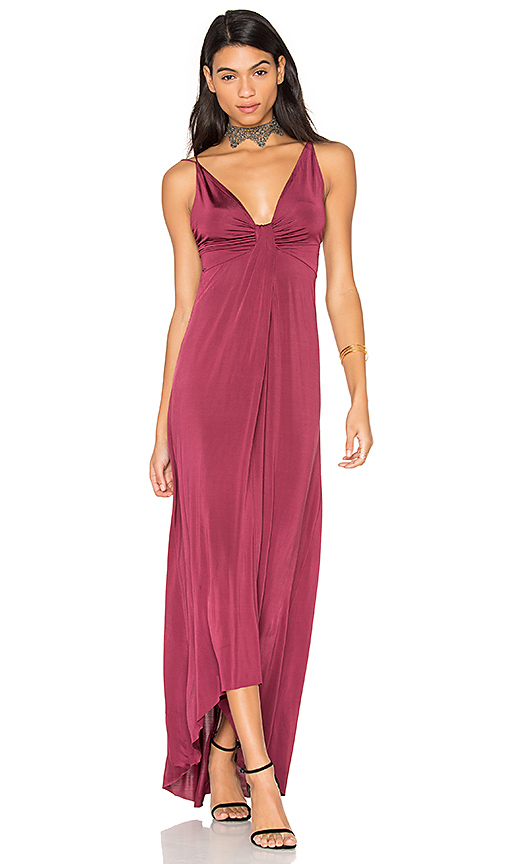 ASTR Jaclyn Dress in Burgundy. - size L (also in M,XS)