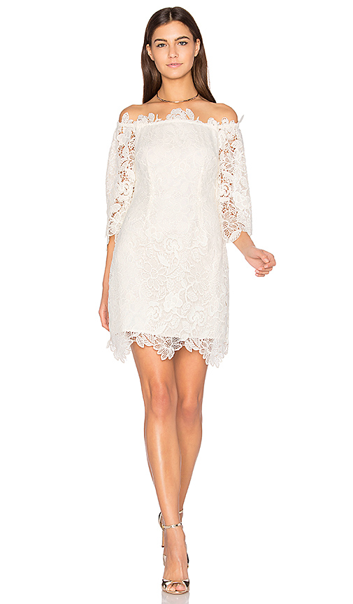 ASTR Madeline Dress in White. - size L (also in M,S,XS)