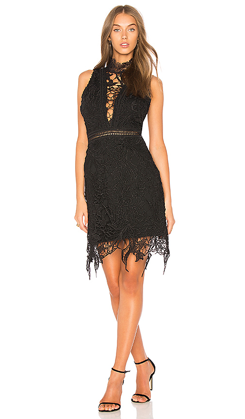 ASTR Felicity Dress in Black. - size L (also in M,S,XS)