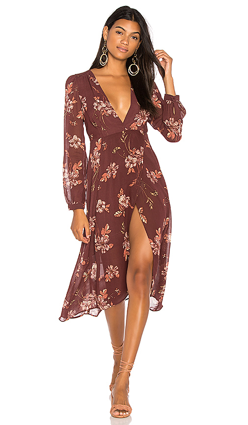 ASTR Nikki Dress in Wine