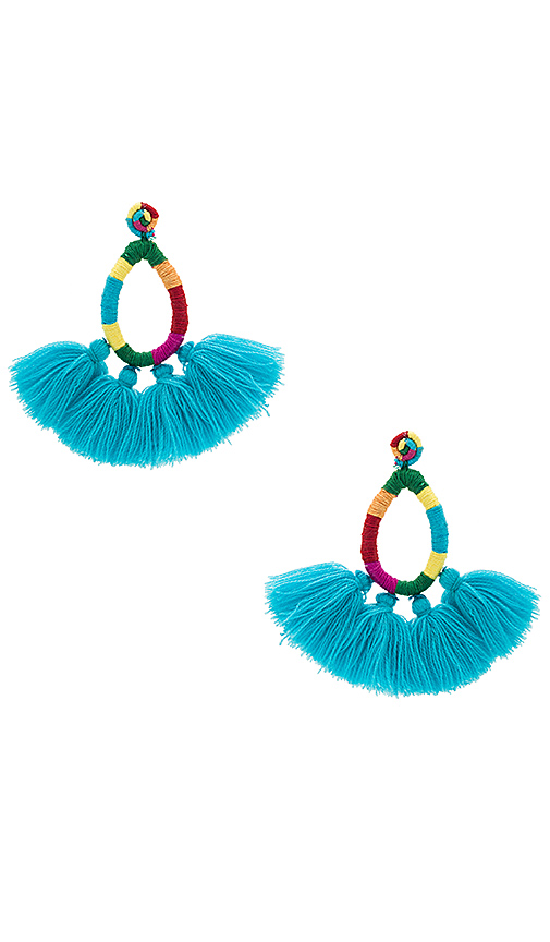 All Things Mochi The Hallu Earrings in Turquoise