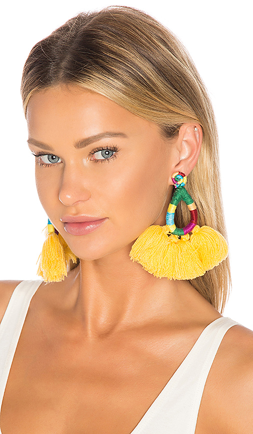 All Things Mochi Hallu Earrings in Yellow