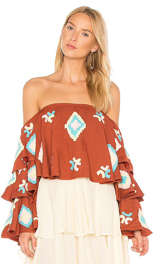 All Things Mochi The Izza Top in Burnt Orange