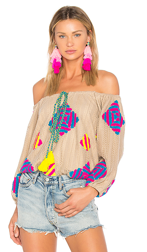 All Things Mochi Dassin Top in Brown