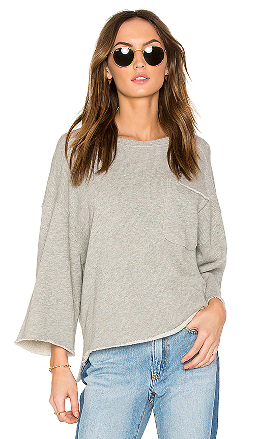 ATM Anthony Thomas Melillo Oversized Sweatshirt in Gray. - size XS (also in M,S)