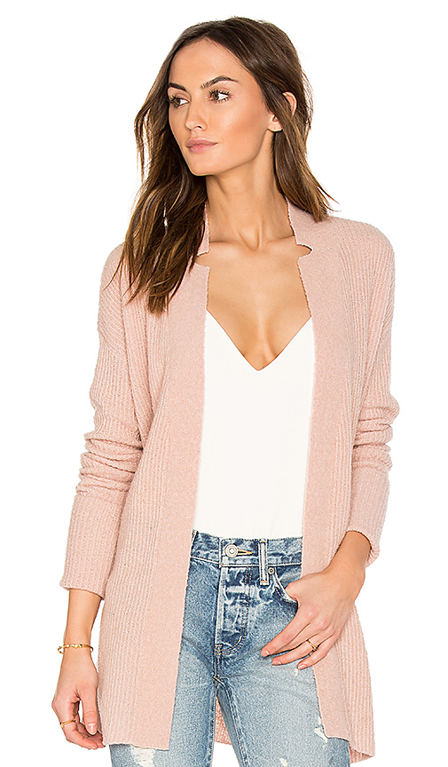 ATM Anthony Thomas Melillo Belted Cardigan in Blush. - size L (also in M)