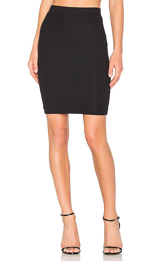 ATM Anthony Thomas Melillo Rib Pencil Skirt in Black. - size L (also in M,S)