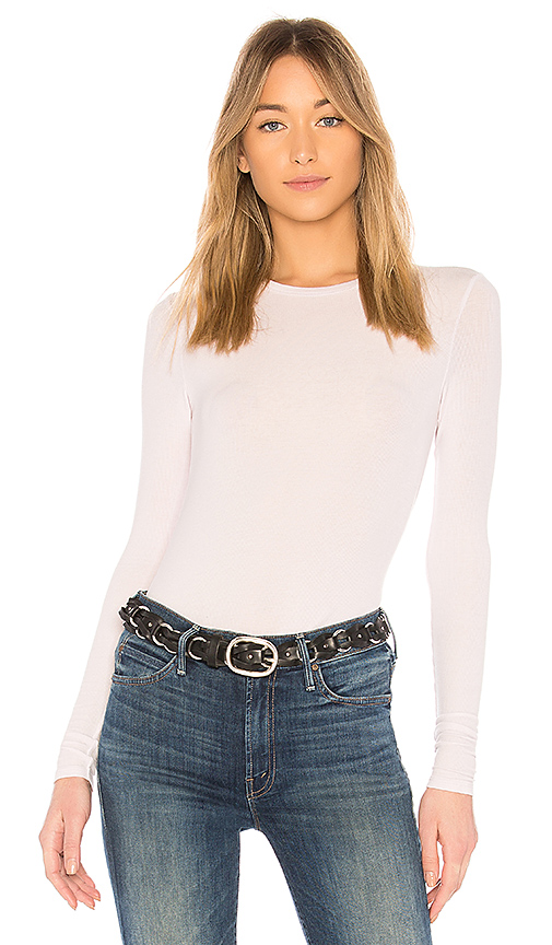 ATM Anthony Thomas Melillo Rib Long Sleeve Tee in Lavender